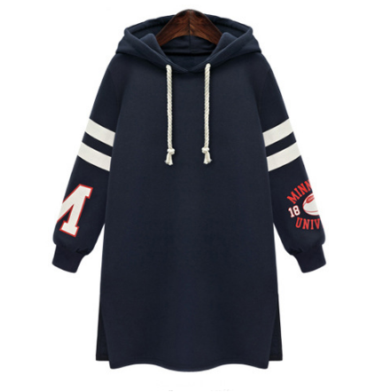 Long Slim Pullover Hooded Print Hoodie - Oh Yours Fashion - 1