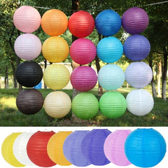 "Multicolor Chinese Paper Lanterns Wedding Party Decoration 8 12"" 16"" 20"" DZ88"" - Oh Yours Fashion - 1"