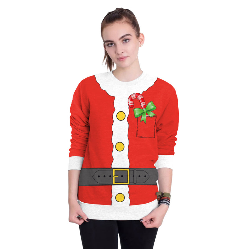 Patchwork Bowknot Print Women Christmas Party Sweatshirt