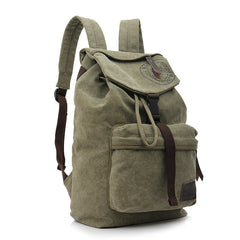 Folder Cover Solid Color Canvas Backpack Leisure Bag - Oh Yours Fashion - 4