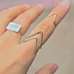 Simple Fashion V-Shaped Ring - Oh Yours Fashion - 2
