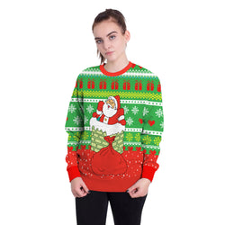 Santa Claus Gifts 3D Print Women Christmas Party Sweatshirt
