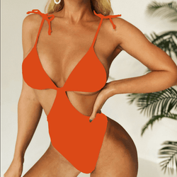 Cutout Slimming Backless High Cut Swimsuits