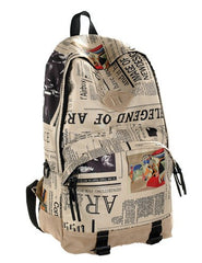 Scrawl Print Unique Backpack Cool Travel School Bag - Oh Yours Fashion - 3