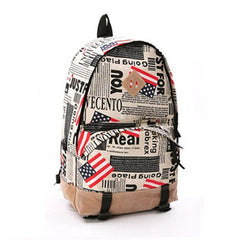 Scrawl Print Unique Backpack Cool Travel School Bag - Oh Yours Fashion - 1