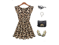 Leisure Slim Fit Leopard Print Short Dress - O Yours Fashion - 3