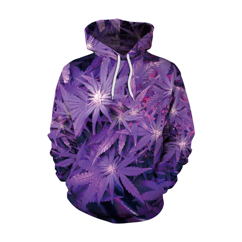 3D Digital Galaxy Print Women Loose Hoodie