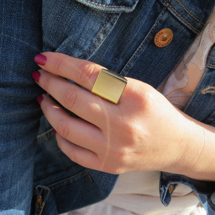 Punk Style Square Street Snap Ring - Oh Yours Fashion - 1