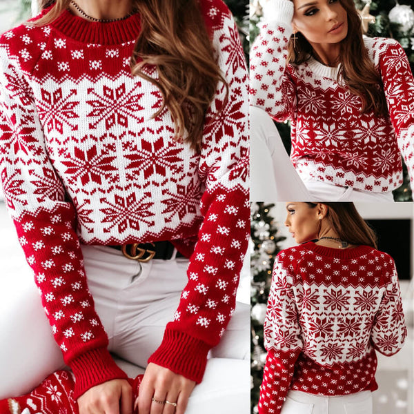 Snowflakes Pattern Christmas Ugly Sweater