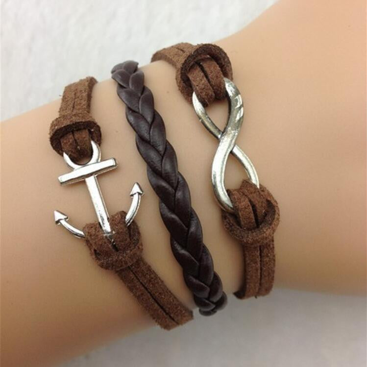 Vintage Anchor Eight MultiLayers Bracelet - Oh Yours Fashion