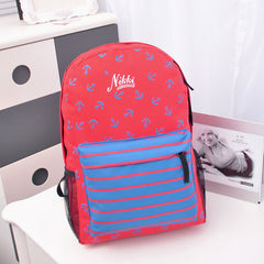 Anchor Print Hot style Navy Stripe Backpack - Oh Yours Fashion - 3