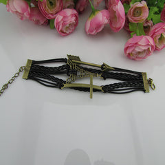 Retro Style Arrow Tower Woven Bracelet - Oh Yours Fashion - 3