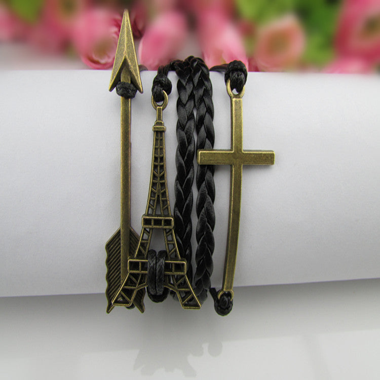 Retro Style Arrow Tower Woven Bracelet - Oh Yours Fashion - 1