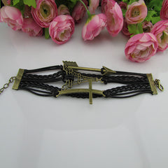 Retro Style Arrow Tower Woven Bracelet - Oh Yours Fashion - 2