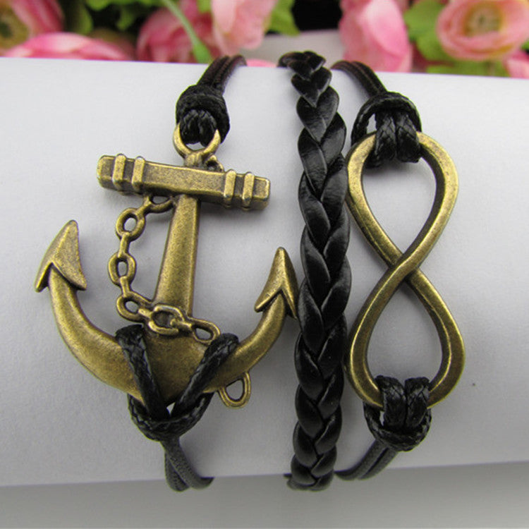 Fashion Multilayer Anchor Bracelet - Oh Yours Fashion - 1