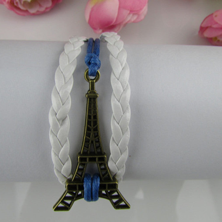 Simple Fashion Eiffel Tower Woven Bracelet - Oh Yours Fashion