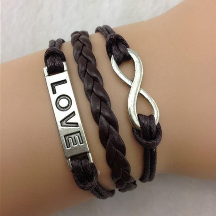 Romantic Brown Hand-made Leather Cord Bracelet - Oh Yours Fashion