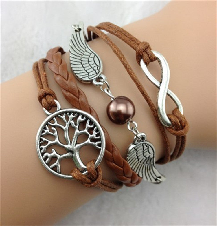 Wings Tree Bright Color Hand-Made Bracelet - Oh Yours Fashion