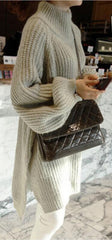 Loose Dip Hem Knit Long Sweater Dress - Oh Yours Fashion - 2