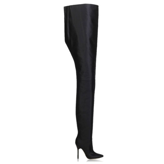 High Heel Pointed Toe Pant Boots