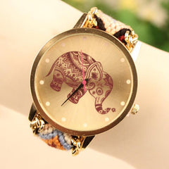 Wool Knitting Strap Elephant Print Watch - Oh Yours Fashion - 11