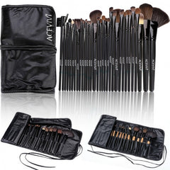 Acevivi New Fashion Professional 32pcs Soft Cosmetic Tool Makeup Brush Set Kit With Pouch - Oh Yours Fashion - 1