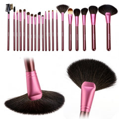 New Fashion 20-Piece Professional Makeup Brush Set Light Pouch Brushes Makeup Tool Set - Oh Yours Fashion - 3