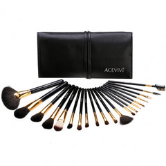 New Fashion 20-Piece Professional Makeup Brush Set Light Pouch Brushes Makeup Tool Set - Oh Yours Fashion - 5