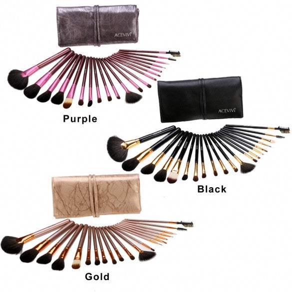 New Fashion 20-Piece Professional Makeup Brush Set Light Pouch Brushes Makeup Tool Set - Oh Yours Fashion - 1