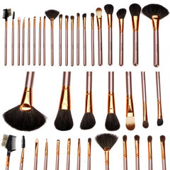 New Fashion 20-Piece Professional Makeup Brush Set Light Pouch Brushes Makeup Tool Set - Oh Yours Fashion - 12