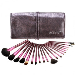 New Fashion 20-Piece Professional Makeup Brush Set Light Pouch Brushes Makeup Tool Set - Oh Yours Fashion - 13