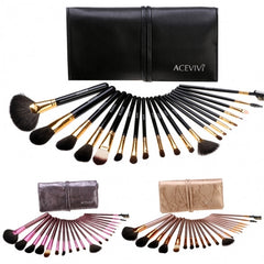 New Fashion 20-Piece Professional Makeup Brush Set Light Pouch Brushes Makeup Tool Set - Oh Yours Fashion - 17