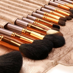 New Fashion 20-Piece Professional Makeup Brush Set Light Pouch Brushes Makeup Tool Set - Oh Yours Fashion - 20
