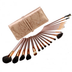 New Fashion 20-Piece Professional Makeup Brush Set Light Pouch Brushes Makeup Tool Set - Oh Yours Fashion - 4