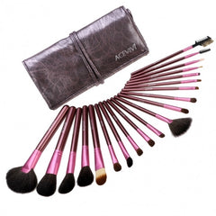 New Fashion 20-Piece Professional Makeup Brush Set Light Pouch Brushes Makeup Tool Set - Oh Yours Fashion - 6