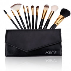 New Fashion Professional 10pcs Soft Cosmetic Tool Makeup Brush Set Kit - Oh Yours Fashion - 2