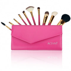 New Fashion Professional 10pcs Soft Cosmetic Tool Makeup Brush Set Kit - Oh Yours Fashion - 3