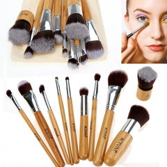 Acevivi New Fashion Professional 10pcs Soft Cosmetic Tool Makeup Brush Set Kit With Pouch - Oh Yours Fashion - 2