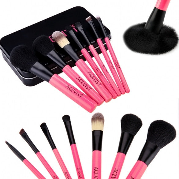New Fashion Professional 7pcs Soft Cosmetic Tool Makeup Brush Set Kit With Iron Box - Oh Yours Fashion - 1