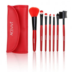 New Fashion Professional 7pcs Soft Cosmetic Tool Makeup Brush Set Kit With Pouch - Oh Yours Fashion - 5