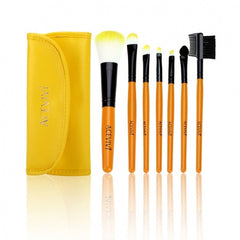 New Fashion Professional 7pcs Soft Cosmetic Tool Makeup Brush Set Kit With Pouch - Oh Yours Fashion - 6