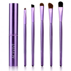 Acevivi New Fashion Professional 5pcs Cosmetic Makeup Tool Brush Set Kit With Alloy Column - Oh Yours Fashion - 3