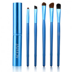 Acevivi New Fashion Professional 5pcs Cosmetic Makeup Tool Brush Set Kit With Alloy Column - Oh Yours Fashion - 4
