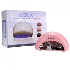 Acevivi New Professional Nail Art 12W LED Manicure Light Lamp Curing Gel Nail Polish Dryer EU Plug White Pink - Oh Yours Fashion - 2
