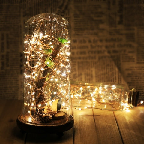 New HOMDOX 10M 6V 100LED Warm White String Light Part Festival Decor Light EU/US/UK Plug Remote Control