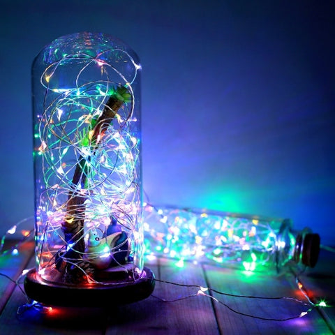 New HOMDOX 10M 6V 100LED Colorful Light String Light Party Festival Decor Light EU/US/UK Plug Remote Control