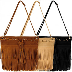 Zeagoo Fashion Women Lady Tassel Solid Casual Shoulder Cross Bag - Oh Yours Fashion - 3