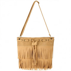 Zeagoo Fashion Women Lady Tassel Solid Casual Shoulder Cross Bag - Oh Yours Fashion - 4