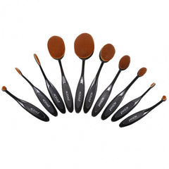 ACEVIVI Pack Of 10 Professional Foundation Makeup Brush Toothbrush Powder Cream Blusher Multifunction Cosmetic Brush Sets - Oh Yours Fashion - 10