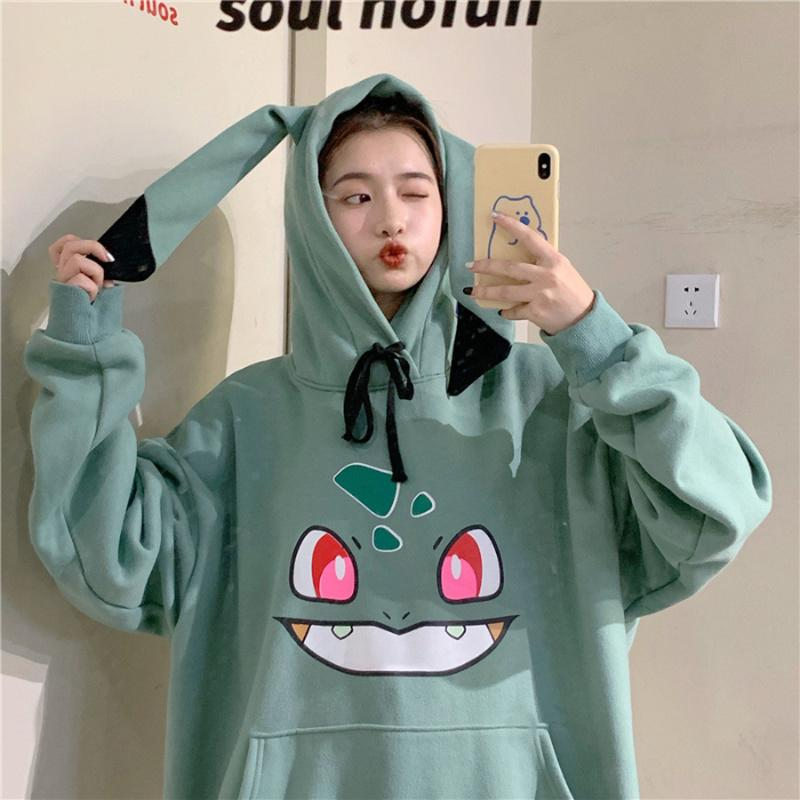 Pokemon Hoodies Women Hip Hop Sweatshirt Girls Harajuku Long Sleeve Japan Hoodie Streetwear Cute Cartoon Hoodie Men Womens